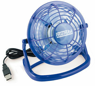 mumbi USB Ventilator Mini Tisch Venti Fan f. Computer Notebook Laptop blau
