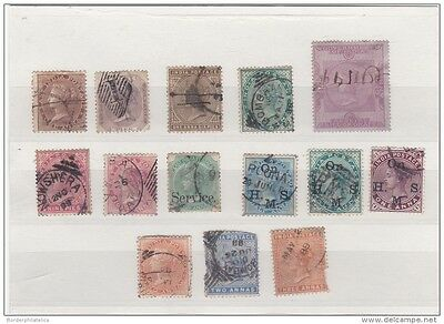 India QV Unchecked Collection x 14 Values ZZ1120