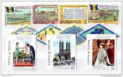 Barbados QEII Sets x 3 to $1 Mint MNH X2057