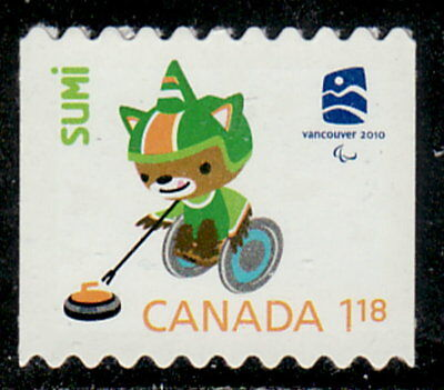 Canada #2309ii Olympic Mascots & Emblem From Coil Die-Cut MNH