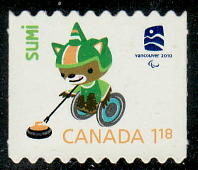 Canada #2312i Olympic Mascots & Emblem From Booklet Die-Cut MNH