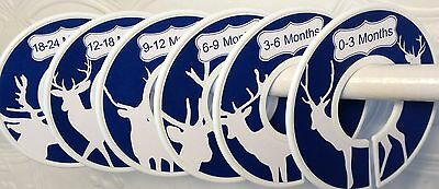 6 Baby Closet  Dividers in Navy Deer Silhouettes Shower Gift Clothes Organizers
