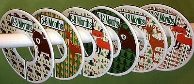 6 Baby Closet  Dividers in Woodland Forest Animal Shower Gift Clothes Organizers
