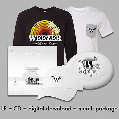Weezer White Album Ultimate Bundle edition Vinyl Sweatshirt T-shirt Frisbee CD