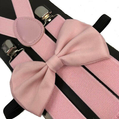 7c7b87865bfd Awesome Wedding Light Pink Wedding Accessories Adjustable Bow Tie &  Suspenders