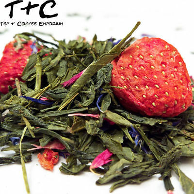 Sencha Energy Tea - Delicious Guarana and Strawberries Stimulating Green Tea