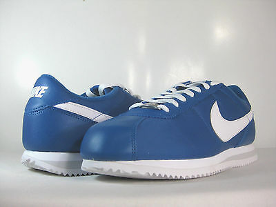 NIKE MENS CORTEZ BASIC NYLON Military Blue/White-Pure Platinum  -476716 404-