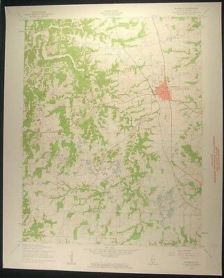 Waterloo Illinois Monroe County 1959 vintage USGS original Topo chart map