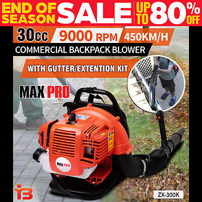 NEW MAX PRO 30CC Backpack Petrol Leaf Blower Yard Garden Lawn Commercial Outdoor