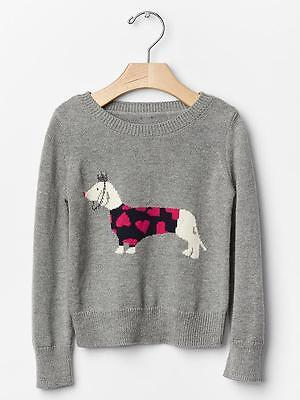 BABY GAP *INTARSIA CHRISTMAS SWEATER* DOG//REINDEER RED INFANT SIZES U-PICK
