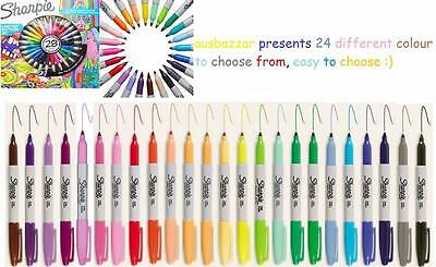 1 X Sharpie Fine Point Permanent Marker Texta Pens - 24 colours to choose from