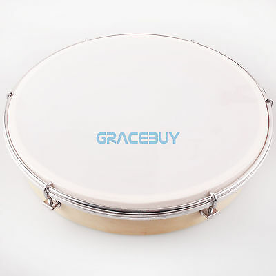 """12"""" Tambourine Tunable Hand Drum Percussion Musical Instrument For Party Gift"""