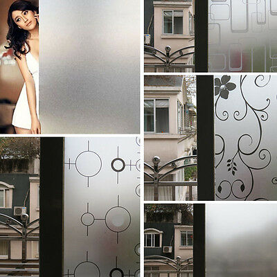 New 45CM*2M Waterproof Frosted Privacy Glass Window Door Sticker Film Home Decor