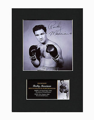 Rocky Marciano Boxing Quality signed Mounted Pre-Print 12 x 8.2 A4 brand new