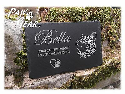 Memorial Plaque Personalised Engraved Natural Slate Rectangle Pet Grave Marker