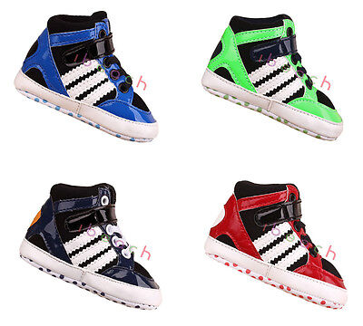 Infant Newborn Baby Boy Girl Soft Sole Sport Shoes High-Top Boots 0-18 Months