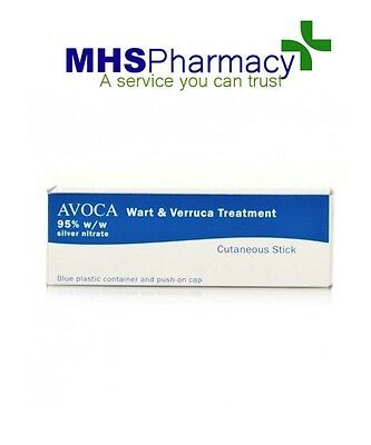 CAUSTIC PENCIL 95% WART & VERRUCA TREATMENT avoca silver nitrate stick pharmacy