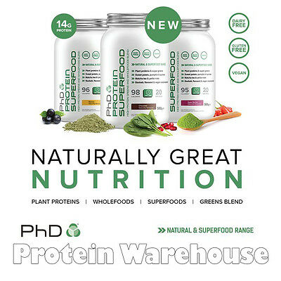 PhD Nutrition Protein Superfood 500g Natural Greens Wholefood Blend Protein