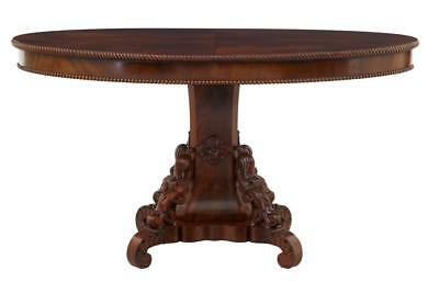 19Th Century Carved Mahogany Oval Center Table