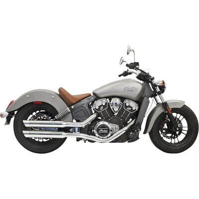 "Bassani Chrome Classic 3"" Slash Cut Slip On Mufflers Exhaust Indian Scout 15-16"