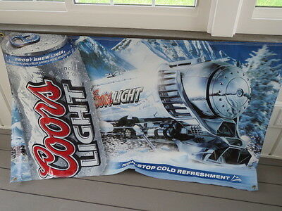 "Coors Light Silver Bullet Train Banner, VERY Rare, 36""X60"", MINT - PRICE REDUCED"
