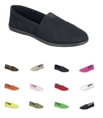 New women ballet flats slip on casual loafer canvas  shoes on sale free shipping