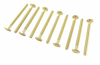 "Lot 10 ea Sliding Tee Bolts 1/4 20 Threads 3 1/2"" Long Brass Plated TB-1/4-3.50"
