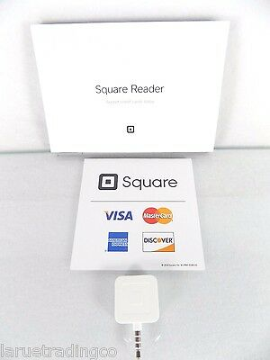 Brand New!~Square Credit & Debit Card Magstripe Reader~White~For Small Business