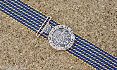 National Medal Mini  Ith 10Cm  Ribbon Excellent Reproduction Emergency Services