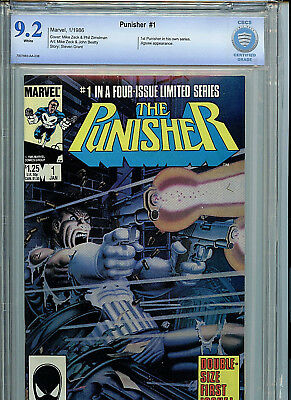 The Punisher #1 Marvel Comics CBCS 9.2 NM- 1986 #1 in 4 Part Series