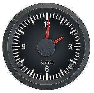 VDO Vision 12V Analogue Clock Gauge 52mm Diameter, Colour Changing Diffusers