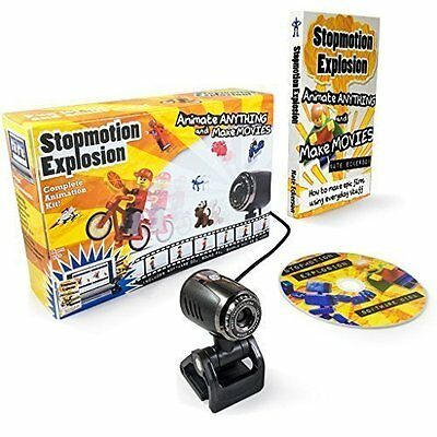 Stopmotion Explosion: Complete Stop Motion Animation Kit W/ HD Camera & Book (W