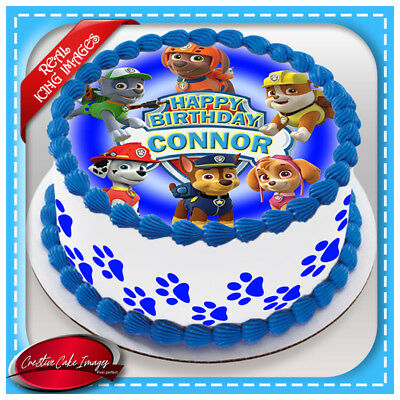 Paw Patrol Edible Cake Image Icing Birthday Decoration Personalised Party Topper