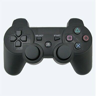 Bluetooth Wireless PS3 Dual Shock Controller - Black retail packing
