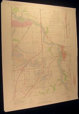 Wilmington Illinois Kankakee River 1974 vintage USGS original Topo chart map