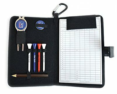 Pga Tour Golf Leather Organiser Black Training Sporting Goods Fitness Strength