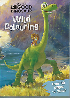 Disney Pixar the Good Dinosaur Wild Colouring Book over 30 pages to colour freep