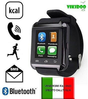 vikidoo SMARTWATCH U8 touchscreen orologio VIVAVOCE  BLUETOOTH IOS ANDROID