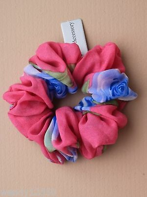 Pack Of 6 Coloured Chiffon Scrunchies Floral Print: Wholesale : Sp-4656 Pk6