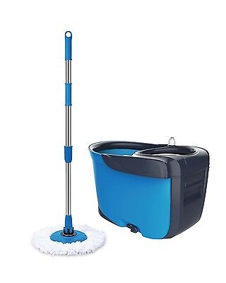 Ultimate Spin Mop 360 + 2 Mop Head New Design DOUBLE Basket - Heavy Duty Mop Set