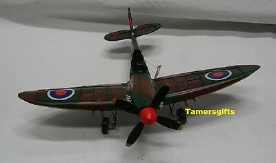Metal Tin Spitfire Aircraft Model WWII Fighter Plane Model