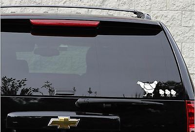 Chicken family decal set