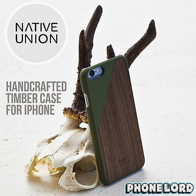 Native Union Genuine Clic Wooden Case for iPhone 6/6S PLUS Timber case OLIVE