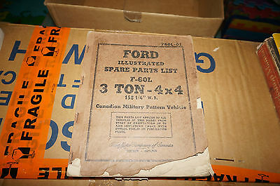 Ford WW2 Military Truck Parts List 3 Ton 4x4 Canadian Military