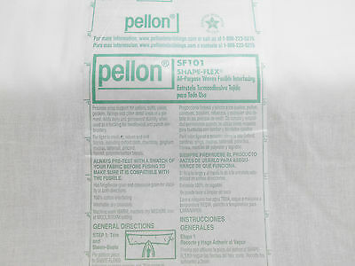 """Pellon SF101 Shape-Flex 20""""  Woven Fusible Interfacing BY YARDS Quilting Sewing"""