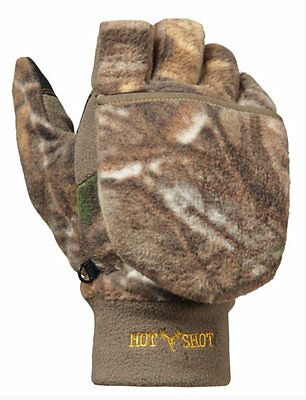 Bullseye Pop Top Mittens Large Gloves Hunting Shooting Fleece Realtree Xtra Camo