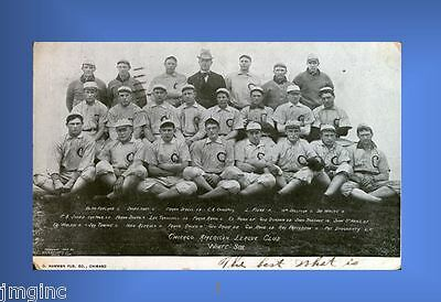 1906 Chicago White Sox Team,, Postcard reproduction - Postmarked 3/13/1907