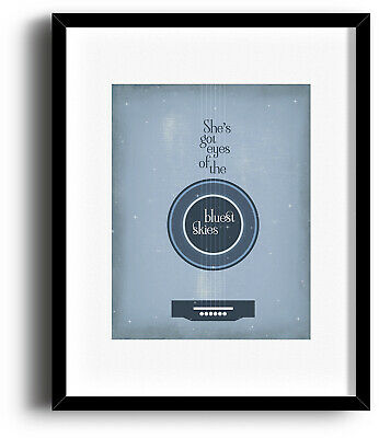 Guns n Roses SWEET CHILD O MINE Song Lyric Art Print 80s Rock Music Poster Print