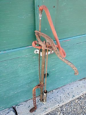 "Antique Brass Hand PUMP Measures 32"" High D.B. SMITH UTICA NY"