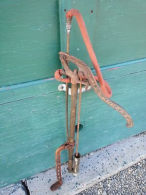 """Antique Copper Hand Water PUMP Measures 32"""" High D.B. SMITH UTICA NY"""